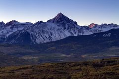 Rugged San Juan Mountains at Sunrise in Colorador stock images