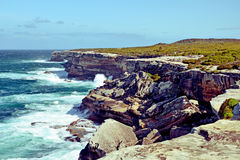 Rugged sandstone cliffs of Cape Solander, Stock Photos