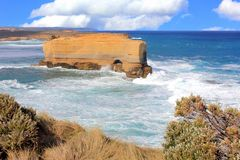 Rugged sandstone cliffs at the Twelve Apostles Royalty Free Stock Photo