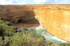 Rugged sandstone cliffs at the Twelve Apostles Stock Photos