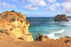 Rugged sandstone cliffs at the Twelve Apostles Stock Photos