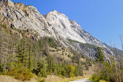 Rugged sandstone mountain peaks Stock Photo