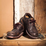 Rugged shoes Stock Image