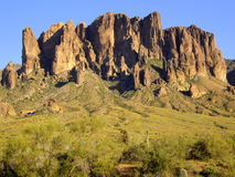 The Rugged Superstition Mountains stock photo