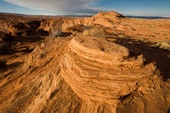 Rugged Terrain. New Horse shoe bend, Page, Arizona Royalty Free Stock Images