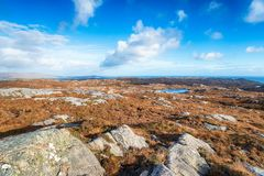 The Rugged Terrain of the Isle of Harris stock photos