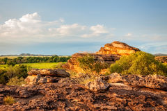Rugged terrain at Ubirr Rock, Northern Territory, Australia Royalty Free Stock Photography