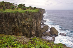 Rugged Tongan Coastline. The rugged coastline along the west coast of the main island of Tongatapu, Tonga stock images