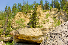 Rugged topography in the northwest territories Royalty Free Stock Image