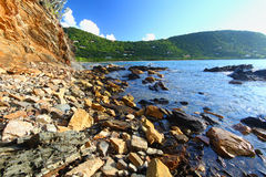Rugged Tortola Coastline Royalty Free Stock Images
