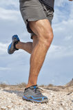 Rugged trail running Stock Image