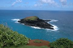 Rugged Tropical Island. In the Pacific off the Coast of Hawaii Stock Image