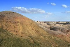The Badlands Painted Hills Royalty Free Stock Image