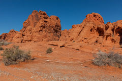 Rugged Valley of Fire Landscape Stock Photo