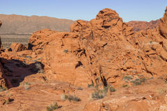 Rugged Valley of Fire Landscape Royalty Free Stock Photography