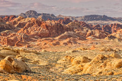 Rugged Valley of Fire Nevada Stock Photos
