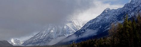 A Rugged Winter Panorama Stock Photo