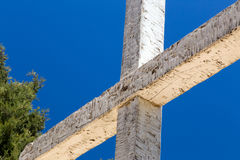 Rugged Wooden Cross Stock Image