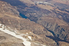 Rugged Wyoming from the Air Stock Photo