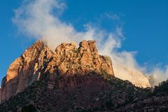 Rugged Zion National Park Sunrise Landscape. The rugged landscape of Zion National Park Utah at sunrise Stock Photos