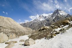 Ruggegraat in het Himalayagebergte royalty-vrije stock afbeelding