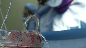 Ruggegraatschirurgiebloed 3 van 6 stock videobeelden