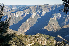Rugged Copper Canyon in Mexico. PartiaL View of the Copper Canyon in Chihuahua,  Mexico Royalty Free Stock Photography