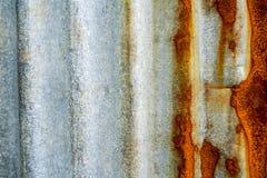 ruggine d'acciaio galvanizzata e corrosione del recinto immagini stock libere da diritti