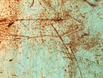 Ruggine e vernice graffiata Fotografie Stock Libere da Diritti