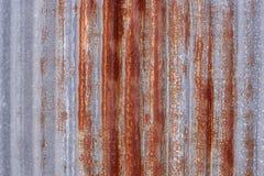Ruggine galvanizzata del ferro Fotografia Stock Libera da Diritti