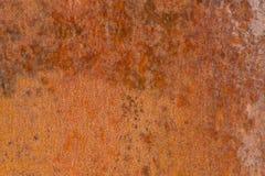 Ruggine su una parete del metallo Fotografie Stock