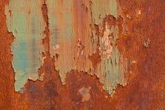 Ruggine su una porta del metallo Fotografia Stock
