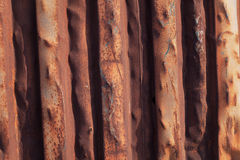 Ruggine su una porta del metallo Immagini Stock