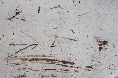 Ruggine su una superficie di metallo Fotografie Stock
