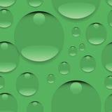 Rugiada su un fondo verde Immagine Stock