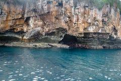 Rugido gör Leao Lions Roar Rock - Fernando de Noronha, Pernambuco, Brasilien arkivbilder
