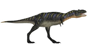 Rugido que camina del dinosaurio del Aucasaurus - 3D rinden Fotografía de archivo libre de regalías