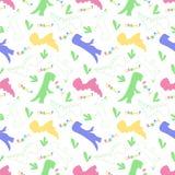 Rugido y chomp Modelo de Dino Teja incons?til creativa con los dinosaurios y letra en estilo escandinavo Materia textil de la imp libre illustration