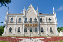 Ruginoasa neogothic palace in Moldavia Region of Romania Stock Photo