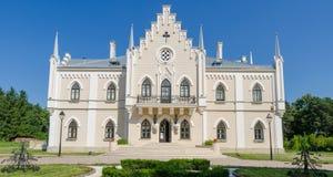 Ruginoasa neogothic palace in Moldavia Region of Romania Stock Images