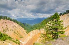 Ruginoasa Precipice stock image