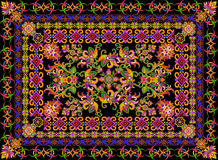 Rugr in floral Turkish  style Stock Photography