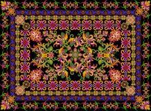 Rugr w kwiecistym turecczyzna stylu Fotografia Stock