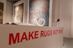 Rugs on display at Fuorisalone during Milan Design Week 2015 Stock Photo