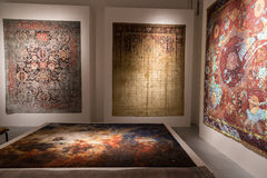 Rugs on display at Fuorisalone during Milan Design Week 2015 Stock Photography