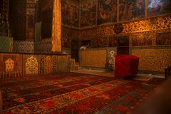 Rugs & frescos, Armenian Church Stock Photo