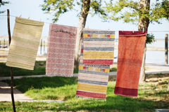 Rugs on a rope Royalty Free Stock Photos