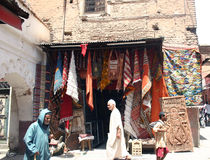 Rugs for sale Stock Photography