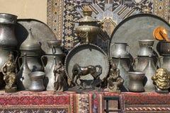 Rugs & Statues II Stock Photography