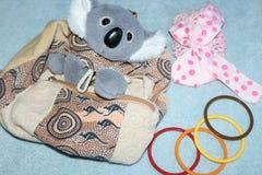 Rugzak voor een kind in de vorm van koala's stock afbeeldingen